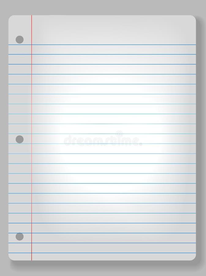 背景笔记本纸张聚光灯 库存例证