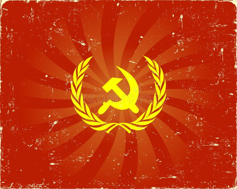 背景符号苏维埃 库存例证
