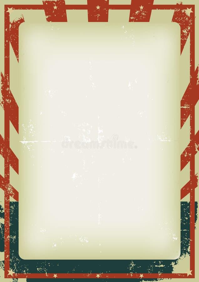 背景第四张grunge 7月海报 皇族释放例证