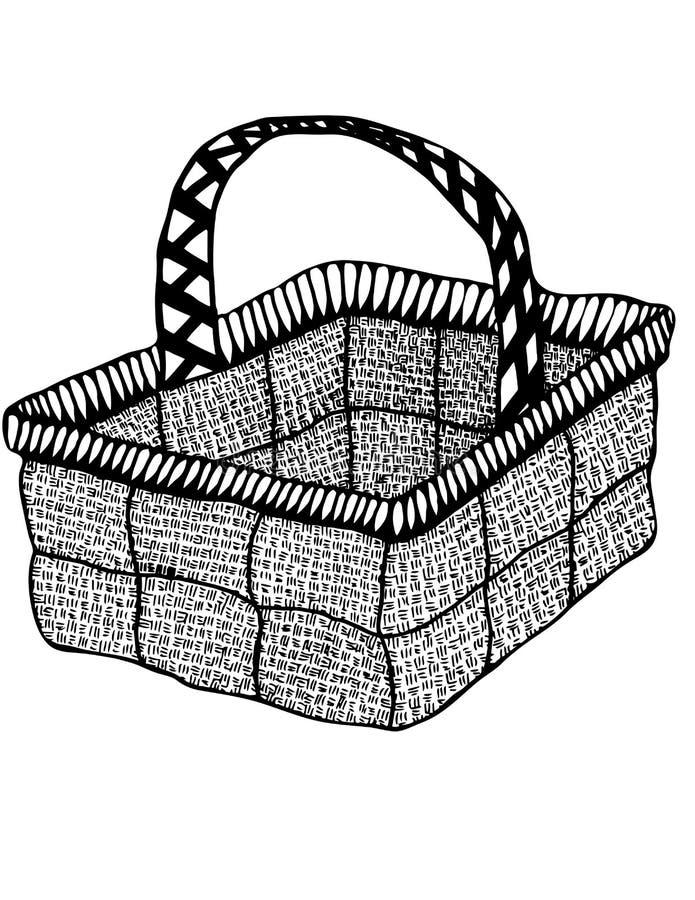 背景篮子查出的空白柳条 免版税库存照片