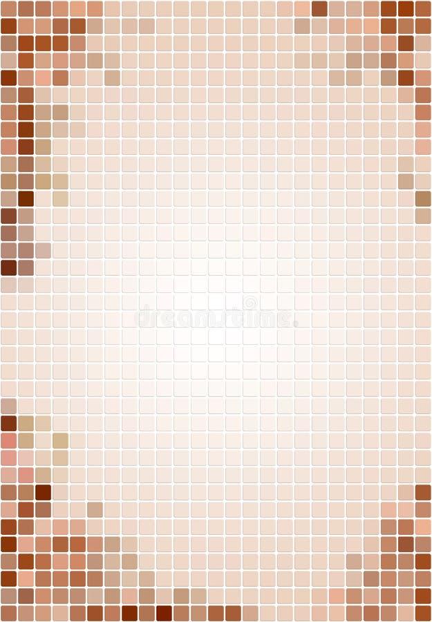 背景米黄褐色铺磁砖了 免版税库存照片