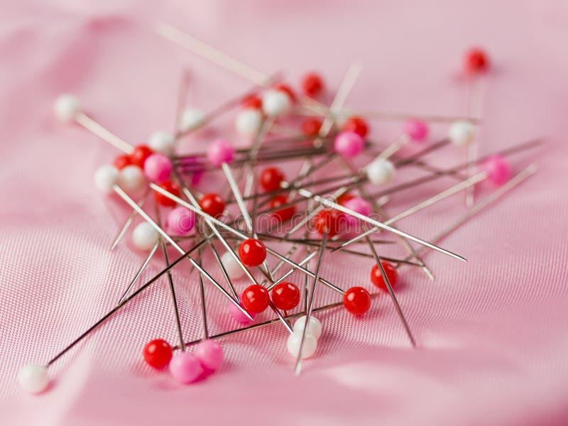 背景粉红色缝合 免版税库存照片
