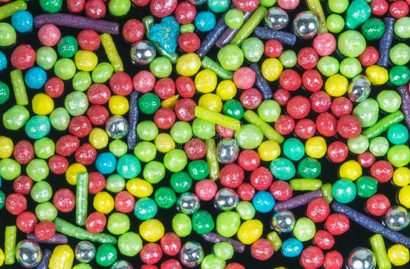 背景糖果五颜六色的框架充分的数百极上品洒千位 在视图之上 库存照片