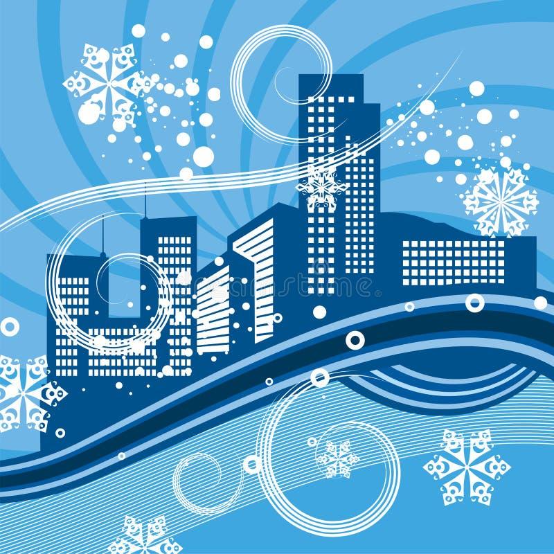 背景系列都市冬天 皇族释放例证