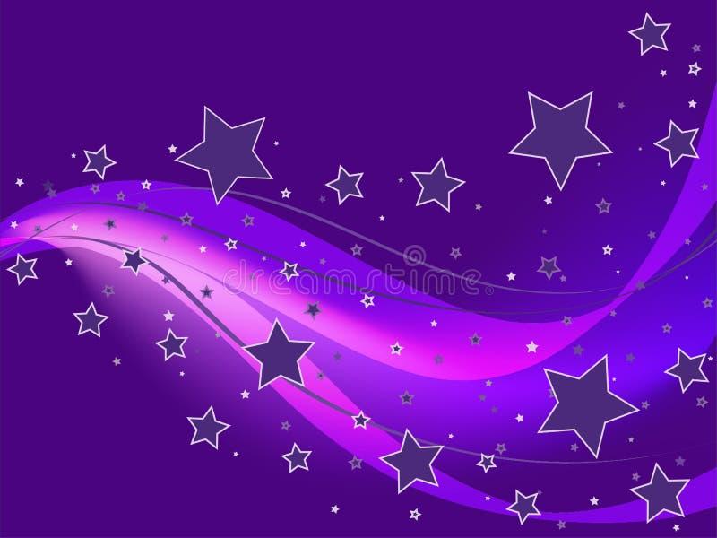 背景紫色星形 皇族释放例证