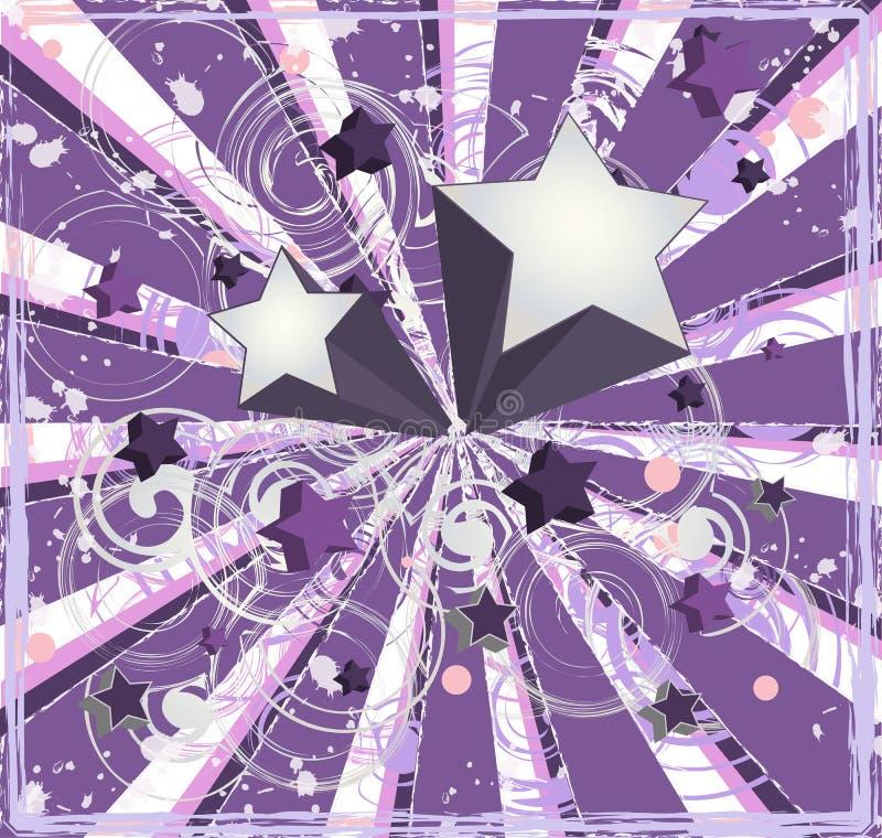背景紫色流星 皇族释放例证