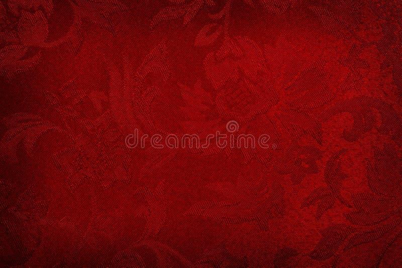 背景红色丝绸 库存照片