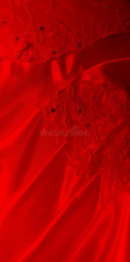 背景红色丝绸 库存图片