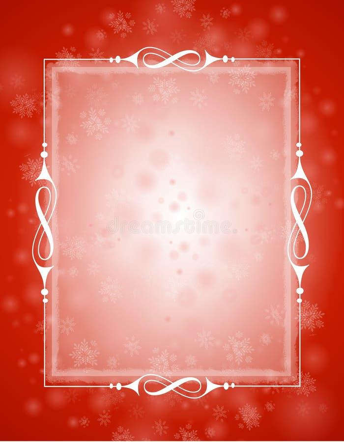 背景红色冬天 皇族释放例证