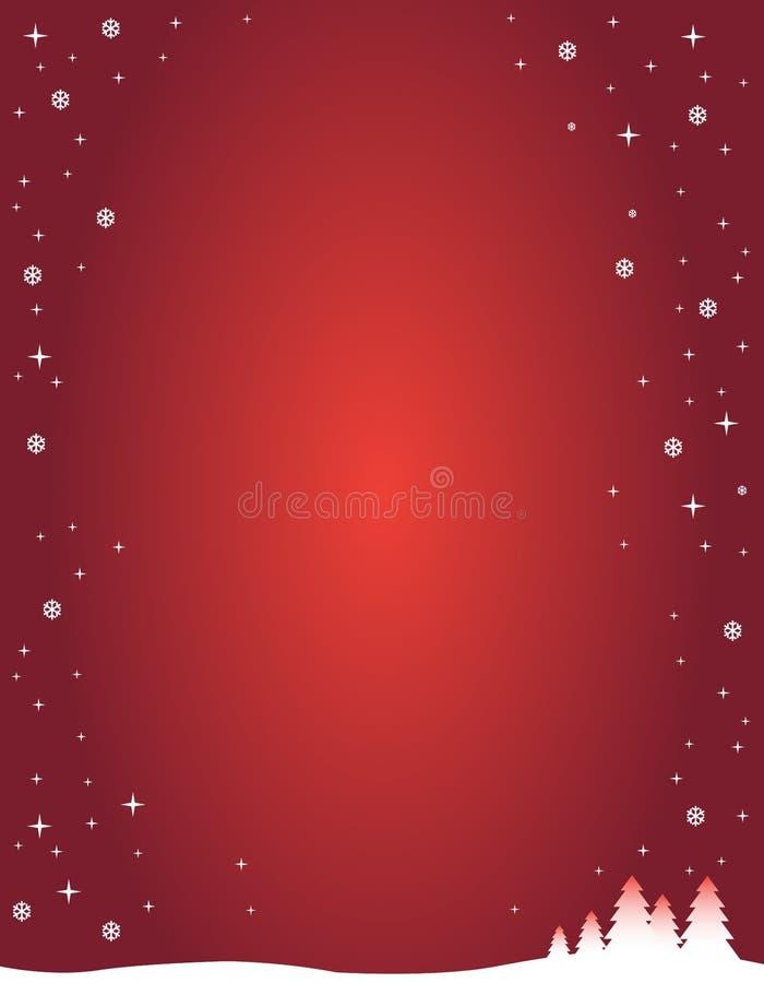 背景红色冬天 向量例证