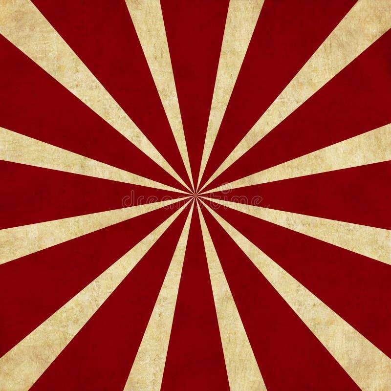 背景红色减速火箭的starburst 皇族释放例证