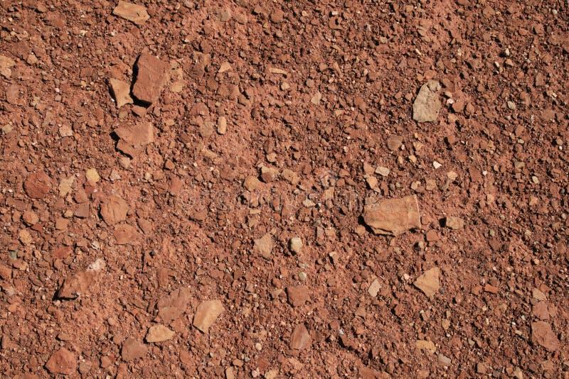 背景红色土壤 免版税库存图片