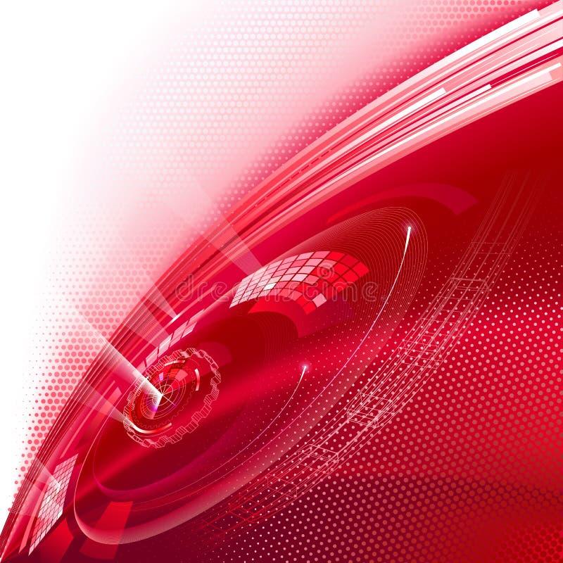 背景红色技术 皇族释放例证