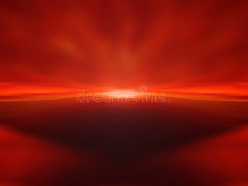 背景红色日落 免版税库存图片