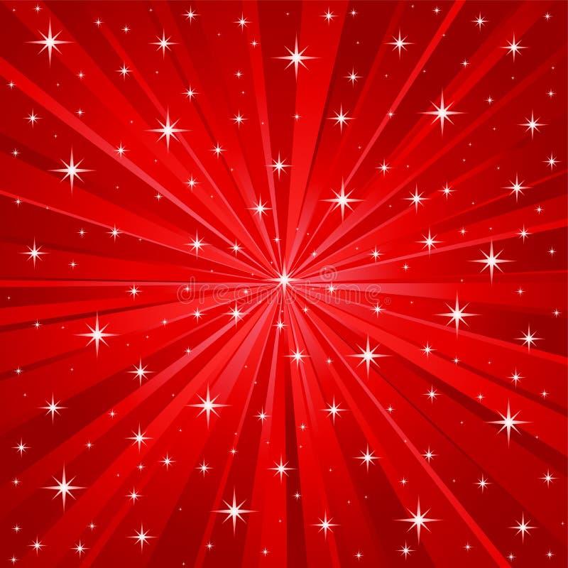背景红色星形向量 皇族释放例证