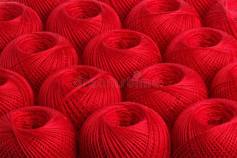 背景红色毛线 免版税图库摄影