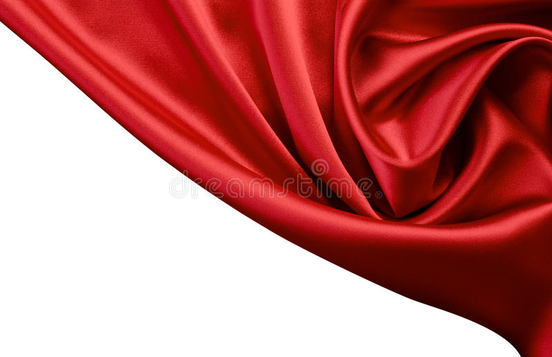 背景红色缎丝绸 免版税库存图片