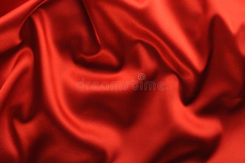 背景红色缎 库存照片