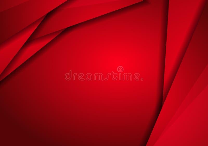 背景红色金属纹理,与三角f的抽象金属红色 向量例证