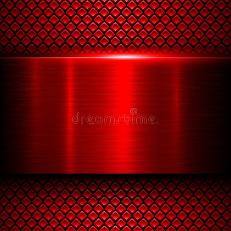 背景红色金属 皇族释放例证