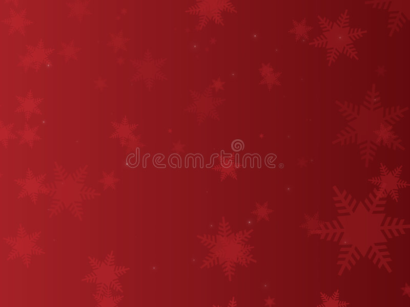 背景红色雪花 向量例证