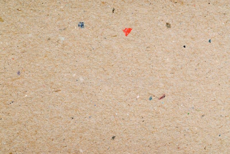 背景纸板被回收的纹理 免版税库存图片