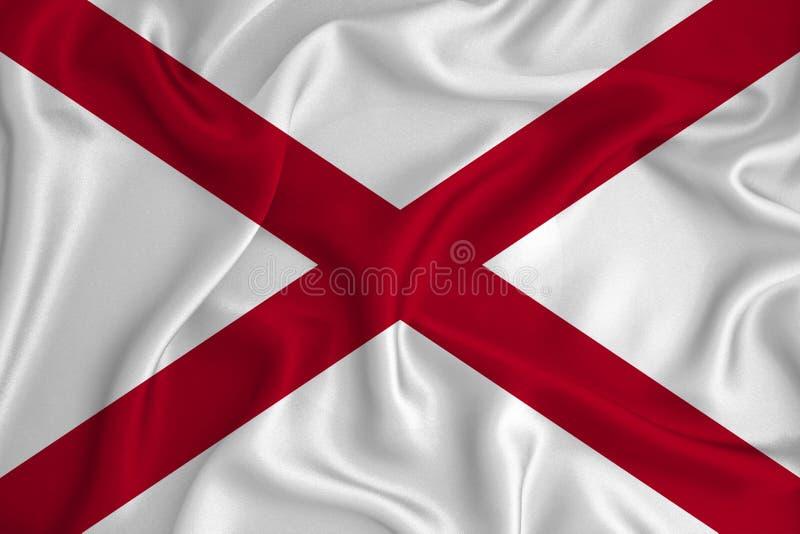 背景纹理上的美国阿拉巴马州国旗 设计者解决方案的概念 免版税库存照片