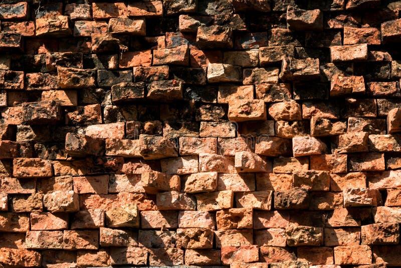 背景纹理的一个老砖墙 免版税库存照片