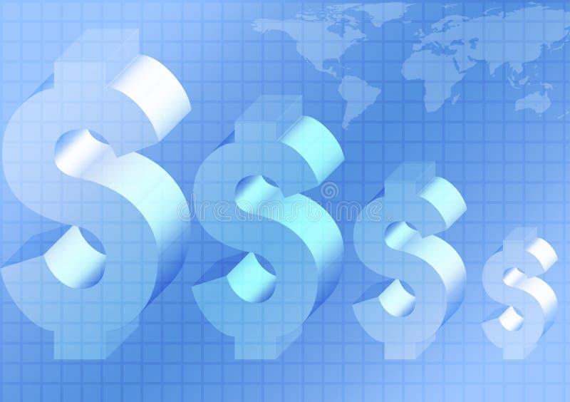 背景经济世界 库存例证