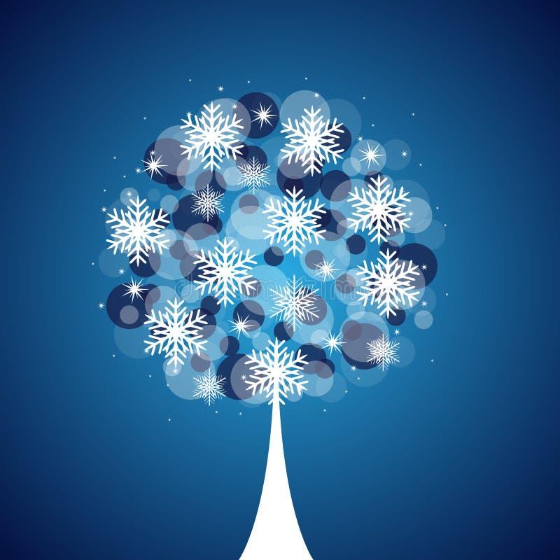 背景结构树冬天 库存例证