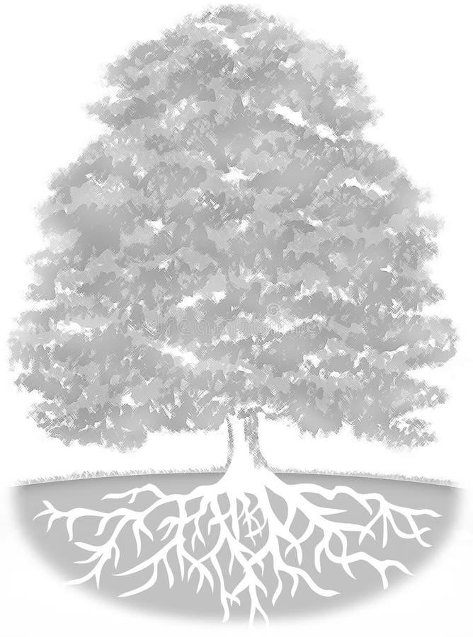 背景结构树 向量例证