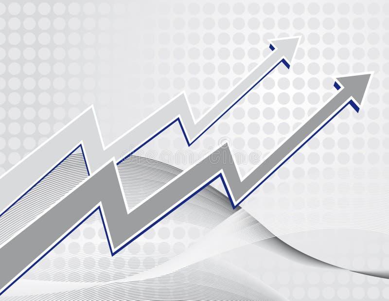 背景绘制增长图表 向量例证