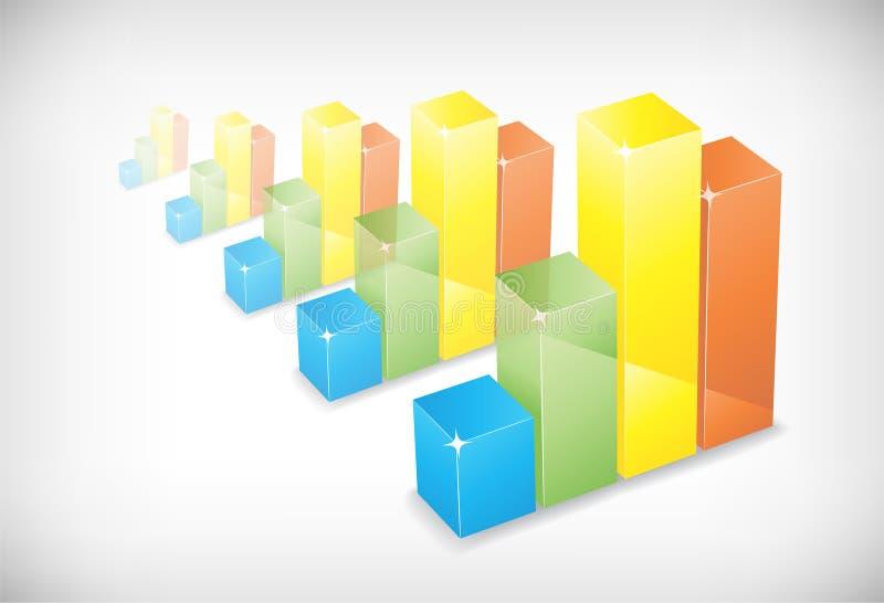 背景绘制颜色五图表 皇族释放例证
