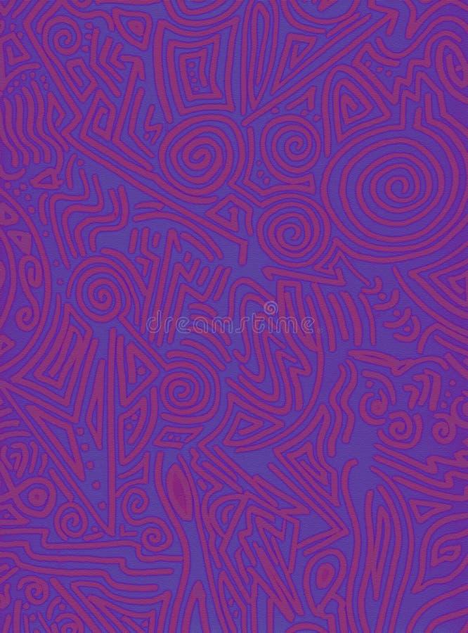 背景绯红色街道画紫色 向量例证