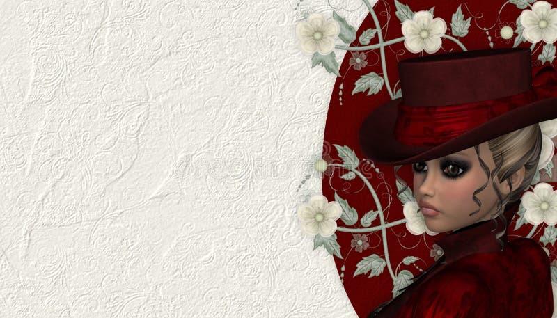 背景维多利亚女王时代的著名人物妇&# 向量例证