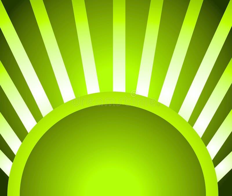 背景绿灯光芒 库存例证
