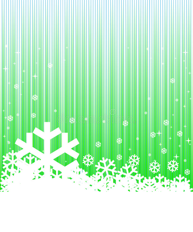 背景绿色冬天 库存例证