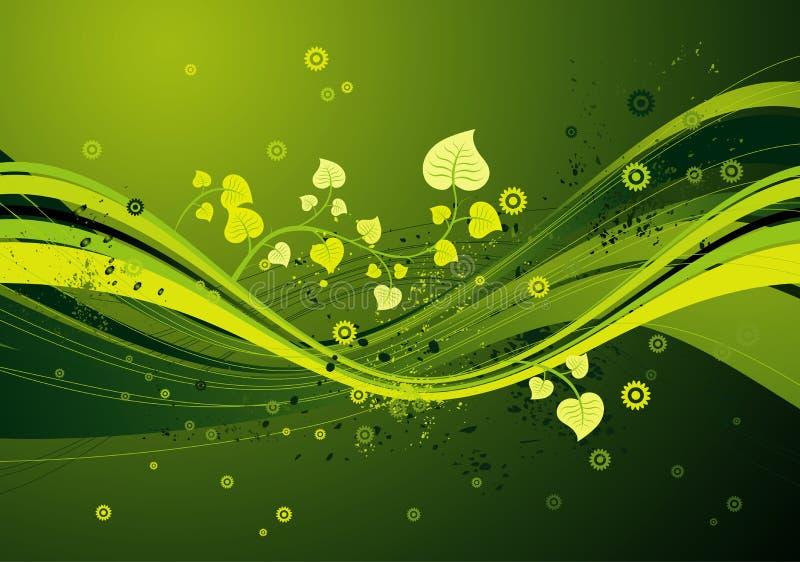 背景绿色向量 库存例证