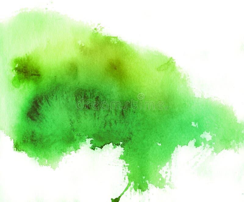 背景绿色地点水彩 皇族释放例证