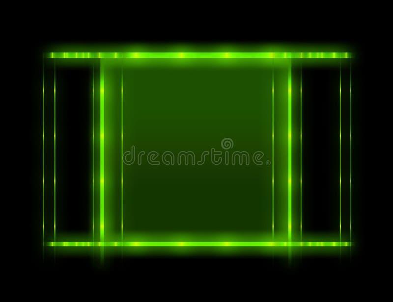背景绿色形状 库存例证