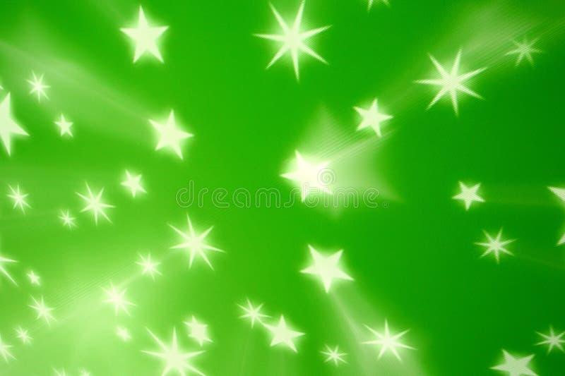 背景绿色星形 库存例证