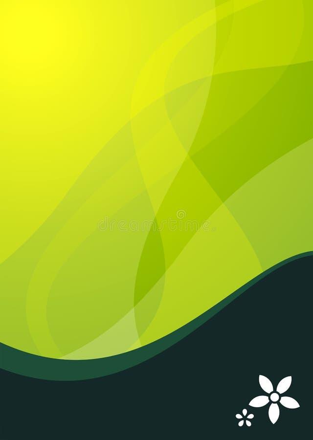 背景绿色波浪 库存例证