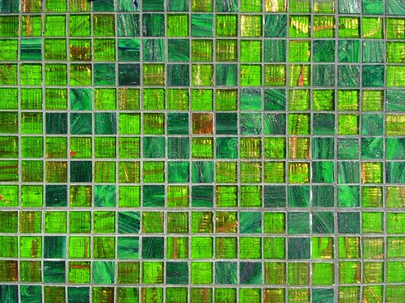 背景绿色瓦片 库存图片