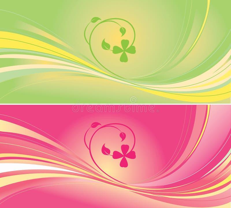 背景绿色粉红色 向量例证