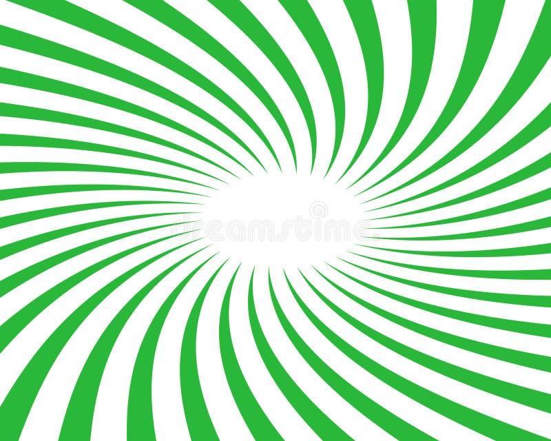 背景绿色转动向量 向量例证