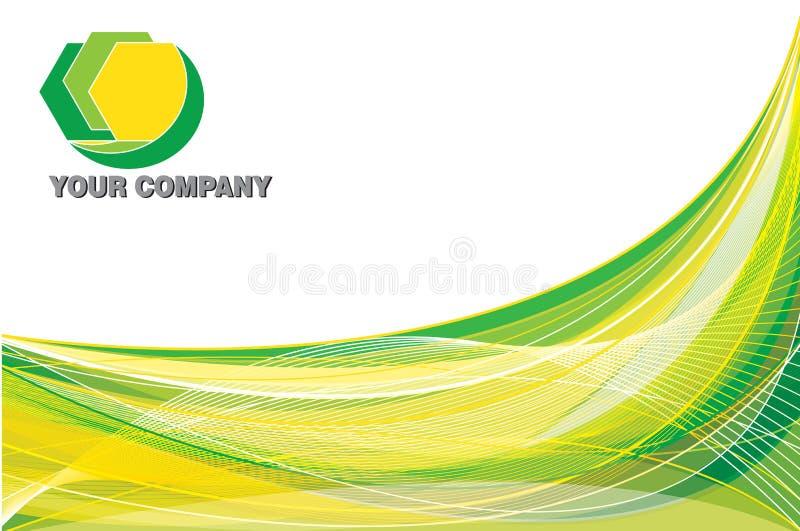 背景绿色黄色 向量例证