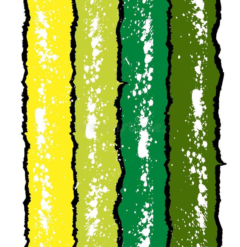 背景绿色grunge墨水splat黄色 库存例证