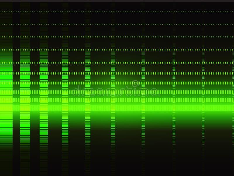 背景绿色techno 向量例证