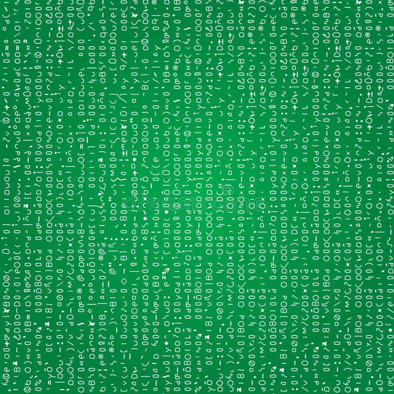 背景编码无缝 库存例证