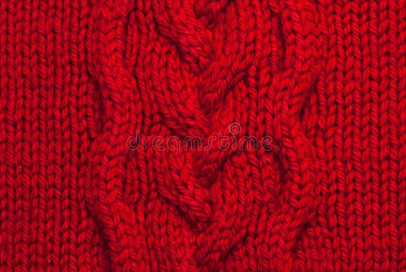 背景编织的红色 免版税库存图片